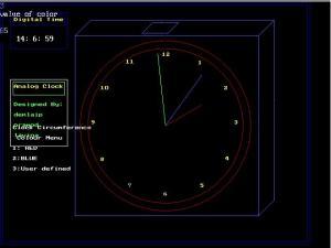 Analog Clock -computer graphics project | DemlaiP