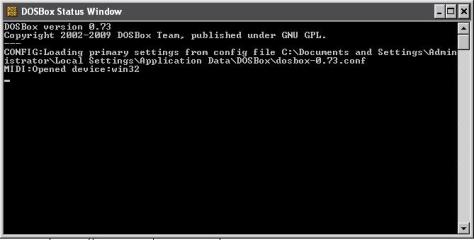 dosbox.conf file  directory